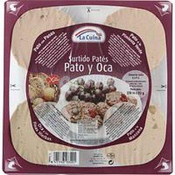La Cuina Tabla de paté de pato-oca Pack 4x55 g