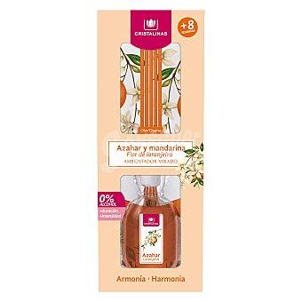Cristalinas Ambientador de varillas con aroma a azahar y mandarina (armonía) 45 ml