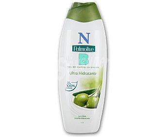 PALMOLIVE Gel de ducha en crema ultra hidratante con oliva y leche hidratante 600 mililitros