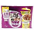 Junior casserole comida húmeda para gatitos de 2-12 meses selección de aves Pack 4 unidades 100 g Whiskas