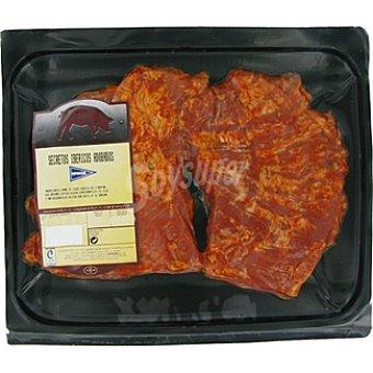 Hipercor secretos adobados de cerdo ibérico peso aproximado bandeja 400 g