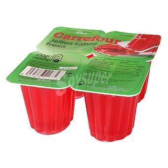 Carrefour Gelatina fresa Pack 4x100 g