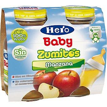 Hero Baby Zumo infantil manzana Pack 2 botella 130 ml