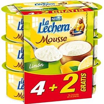 La Lechera Nestlé Mousse de limón + 2 gratis Pack 4 unidades 68 g