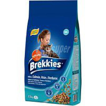 Brekkies Affinity Mix de salmón-atún-verdura para gato Saco 1,5 kg