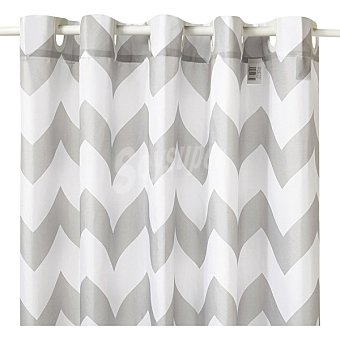 Unit ZigZag cortina de baño 180x180 cm en color gris y blanco