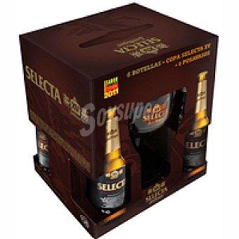 SELECTA Cerveza Pack 6x33 cl + Copa