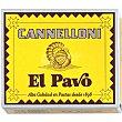 Pasta canelones, placas precocidas Paquete 125 gr.20 unidades El Pavo Gallina Blanca