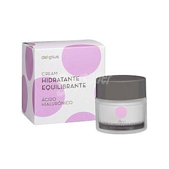 Deliplus Crema facial hidratante con acido hialuronico y vitamina e para piel normal a grasa Tarro 50 ml