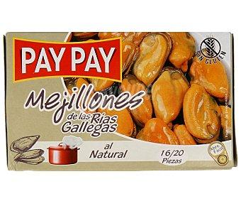 Pay Pay Mejillones natural de las rías gallegas Lata de 70 grs
