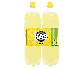 Kas Refresco de limón con gas Pack 2 botella 2 l