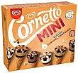 Mini conos clásicos (2), caramelo (2) y chocolate (2) Pack 6 x 60 ml Cornetto Frigo