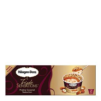 Häagen-Dazs Helado triple sensations praline y caramelo tarrina 2 ud