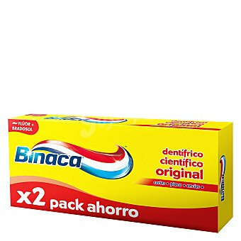 Binaca Dentífrico triple protecion Pack de 2x75 ml