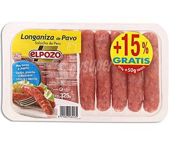 ElPozo Longaniza de pavo Bandeja 325 g