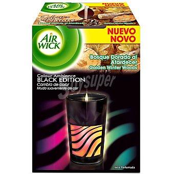 AIR WICK Colour Ambiance Ambientador vela Bosque Dorado al atardecer black edition envase 1 unidad Envase 1 unidad