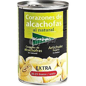 EL CORTE INGLES Corazones de alcachofas 20-25 piezas  lata 240 g neto escurrido
