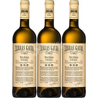 Terras Gauda Vino blanco albariño D.O. Rias Baixas estuche mantecón 3 botella 75