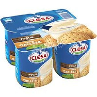 CLESA Yogur sabor a galleta Pack 4x125 g