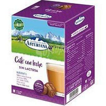 Central Lechera Asturiana Café con leche sin lactosa Caja 16 monodosis