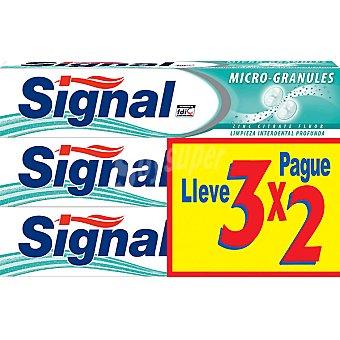 Signal Pasta de dientes micro granulos Pack 3 tubo 75 ml