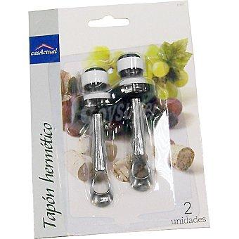 Casactual Tapones hermeticos para vino set de 2 unidades 2 unidades