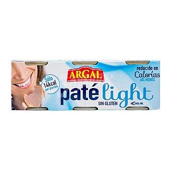 Argal Pate higado bajo calorias Pack 3 u - 240 g