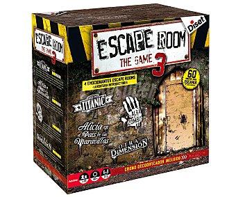 Diset Juego de mesa de ingenio, lógica y deducción Escape Room 3, de 3 a 5 jugadores, diset.