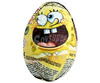 Bob sponge Huevo Chocolate 1 Unidad 20 Gramos
