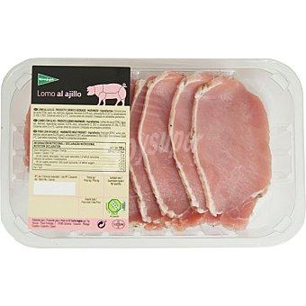 El Corte Inglés Lomo al ajillo de cerdo extra en filetes peso aproximado Bandeja 400 g