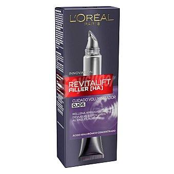 L'Oréal Revitalift Filler cuidado voluminizador de ojos con ácido Hialurónico concentrado rellena arrugas y devuelve el volumen Tarro 15 ml