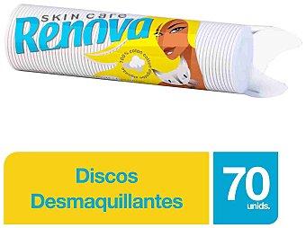 Renova Discos desmaquillantes mini Skin Care Bolsa 70 unidades