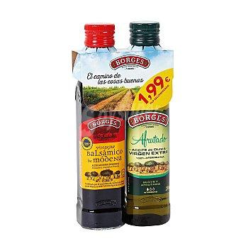 Capricho Andaluz set aliño aceite de oliva y vinagre bolsa 5+5 uds Bolsa 5+5 uds