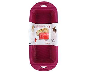 Auchan Molde rectangular para cake fabricado en silicona color rosa, 24 centímetros 1 Unidad