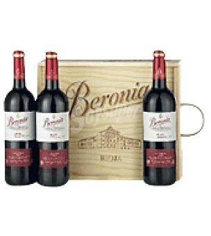 Beronia Estuche madera con 3 botellas de vino d.o.ca. Rioja 75 cl
