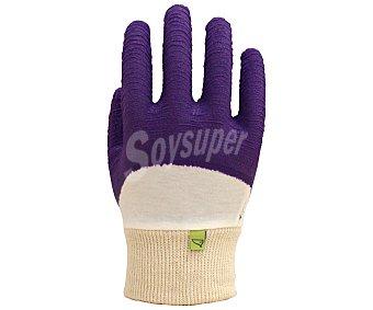 Auchan Par de guantes de jardín de poliéster/algodón y latex,para evitar cortes y pinchazos al realizar trabajos con rosales, talla 7 1 unidad