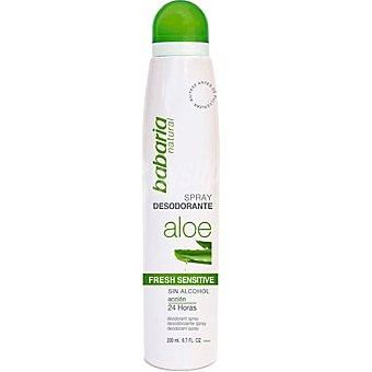 Babaria Desodorante Aloe Fresh Sensitive sin alcohol Spray 200 ml