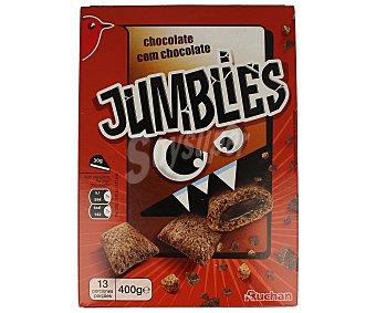 Auchan Cereales con chocolate jumblies Caja de 400 g