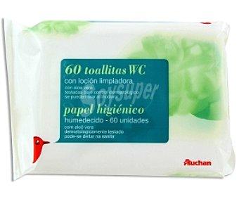Auchan Papel Higiénico Húmedo Recambio 60 unidades