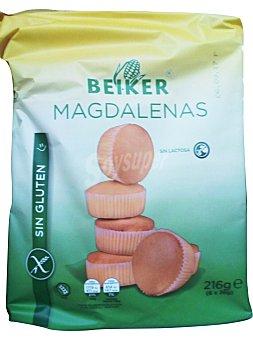 Beiker Magdalena sin gluten Paquete de 216 gramos