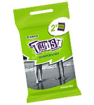 Trident Chicles Sin Azúcar menta Twist pack de 2x23 g