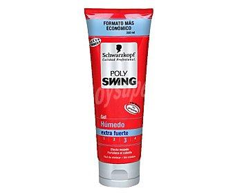 Polyswing Schwarzkopf Gel fijador efecto extra humedo Tubo 250 ml