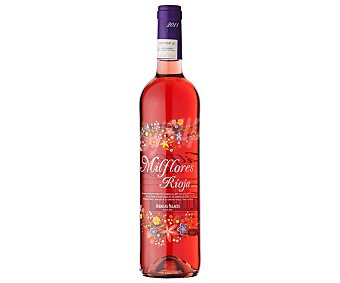 Milflores Vino rosado con denominación de origen Rioja botella de 75 centilitros