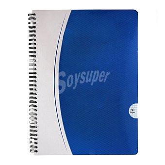 Carrefour Cuaderno 80 hojas cuadricula tapa blanca Unidad