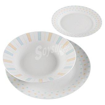 QUO Romance Vajilla de porcelana decorada 18 piezas para 6 servicios 1 Unidad
