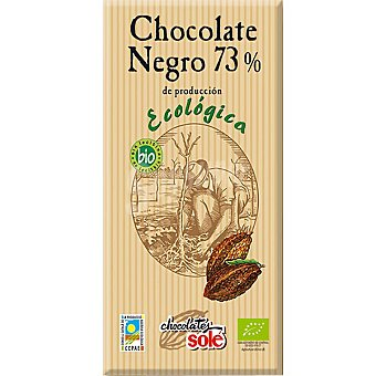 SOLE Chocolate negro 73% cacao ecologico Tableta 100 g