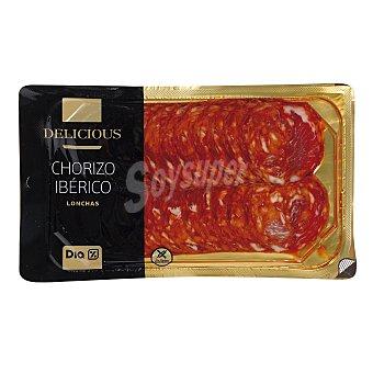 DIA DELICIOUS Chorizo ibérico lonchas Envase 100 gr