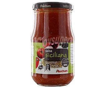Auchan Salsa siciliana (salsa de tomate con cebolla y aceitunas negras) 350 gramos