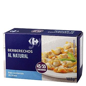 Carrefour Berberecho al natural 45/55 58 g