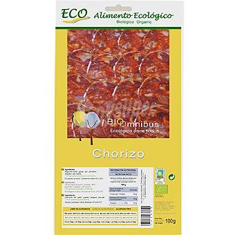 BIOOMNIBUS Chorizo extra en lonchas alimento ecológico Envase 100 g